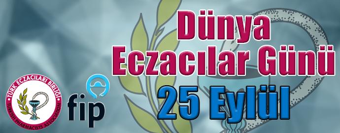 <h1>25 EYLÜL DÜNYA ECZACILAR GÜNÜ KUTLU OLSUN</h1>