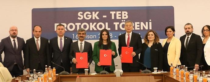 <h1>SGK ile TEB Arasında Ek Protokol İmzalandı</h1>
