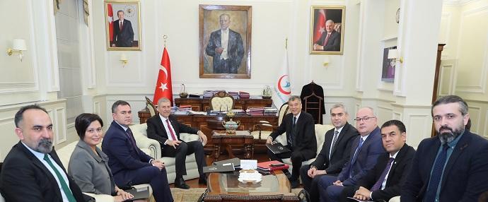 <h1>Sağlık Bakanı Sayın Dr. Ahmet Demircan'ı Ziyaret</h1>