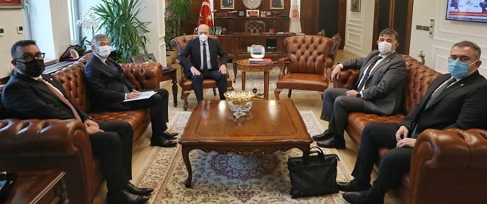 <h1>T.C. Çalışma ve Sosyal Güvenlik Bakanı'nı Ziyaret </h1>