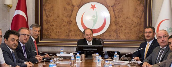 <h1>TEB Merkez Heyeti Sağlık Bakanı'nı Ziyaret Etti</h1>