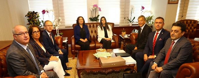 <h1>ÇSGB Bakanı Jülide Sarıeroğlu'nu Ziyaret</h1>