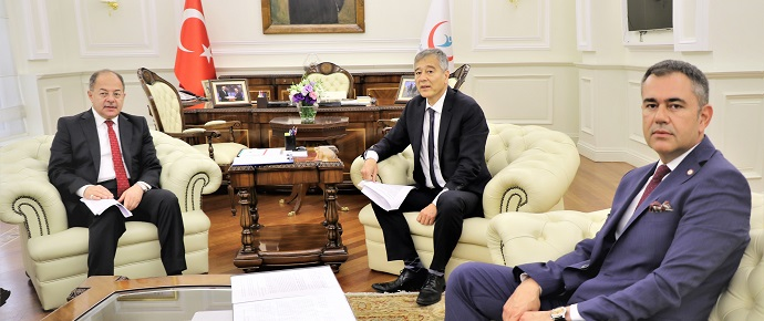 <h1>Sağlık Bakanı Sn. Prof.Dr.Recep Akdağ ile Görüşme</h1>