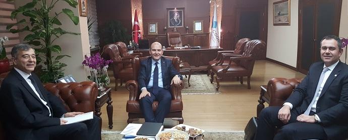 <h1>Çalışma Bakanı Süleyman Soylu İle Görüşme</h1>